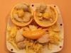 Bandnudeln mit Hähnchen und Orangensauce