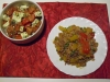 Bologneser Reistopf & Tomaten-Schafskäse-Salat (En Sof)