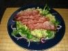 Feldsalat mit Kartoffelvinaigrette und Räucherschinken