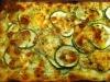 Zucchinipizza mit Mozzarella