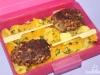 Bentô 4: Tofu-Hackfleisch-Kebab und Kürbisgemüse mit Äpfeln und Honig