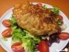 Chipsschnitzel auf Salat
