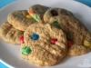 Erdnussbutter-Cookies mit Schokolinsen