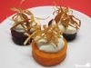 Gemüsetaler mit frittiertem Lauch und Crème Fraîche