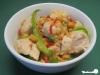 Hähnchen in pikanter Erdnusssauce