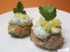 Ingwer-Huhn-Küchlein mit Koriander-Limonen-Mayonnaise