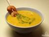 Karotten-Ingwer-Suppe mi Garnelen