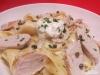 Pappardelle mit Pfeffer-Sahne-Sauce und Hähnchenbrustfilet