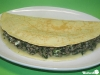 Pfannkuchen mit Spinat, Hackfleisch und Feta