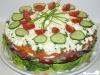 Salattorte mit Schafskäse