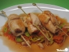 Scharfe Hähnchen-Erdnuss-Rouladen