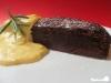 Schokoladenkuchen mit Rosmarincreme