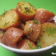 Kartoffelsalat mit Dill-Senf-Dressing