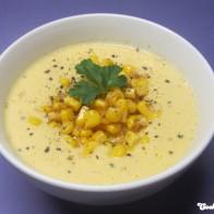 Kalte Mais-Cashew-Suppe