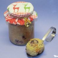Marzipan-Kirsch-Kuchen aus dem Glas